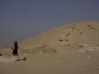 The ruined Pyramid of Amenemhet I at Lisht